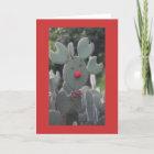Rudolph Cactus Christmas Card