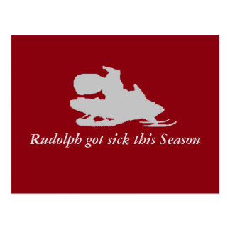 Rudolph got sick this season funny postcard