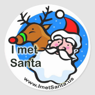 Rudolph - I Met Santa Sticker