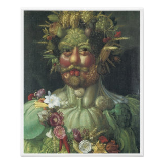 "Rudolph II as ""Vertummus"", 1590 Poster"