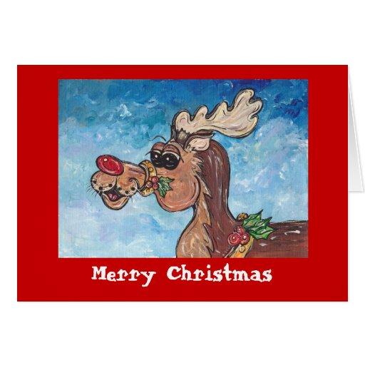 Rudolph Merry Christmas Card