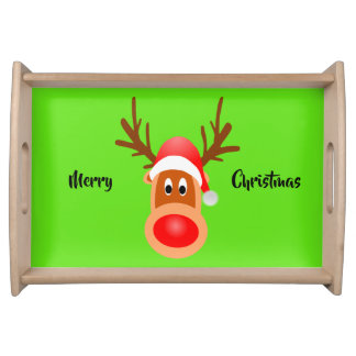 Rudolph Merry Christmas Small Serving Tray