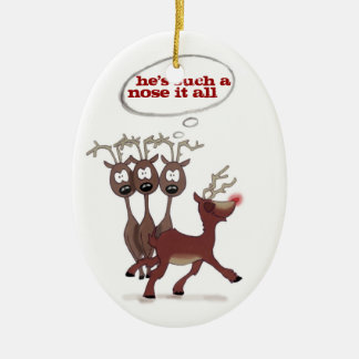"""Rudolph """"nose it all"""" *CUSTOMIZABLE* ornament"""