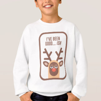 Rudolph Red Nose Reindeer Naughty Nice Good Bad Li Sweatshirt