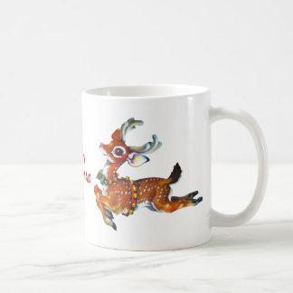 Rudolph Red Nose Reindeer Vintage Art Mugs