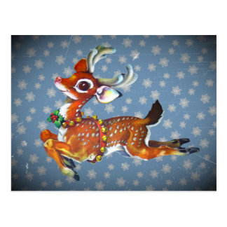 Rudolph Red Nose Reindeer Vintage Art Post Card