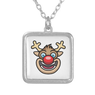 Rudolph Silver Plated Necklace