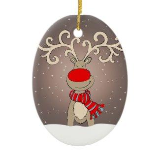 Rudolph soft grey ornament ornament