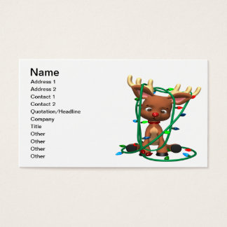 Rudolph Tangled Business Card