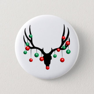 Rudolph the Dead Nosed Reindeer 6 Cm Round Badge