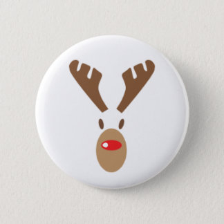 Rudolph The Red-Nose Reindeer 6 Cm Round Badge