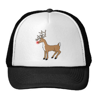 Rudolph The Red Nose Reindeer Christmas T Shirt Mesh Hat