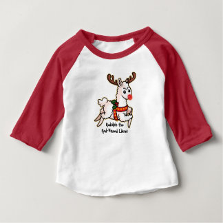 Rudolph the Red-Nosed Llama Baby T-Shirt