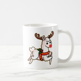 Rudolph the Red-Nosed Llama Coffee Mug