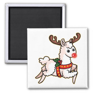 Rudolph the Red-Nosed Llama Magnet