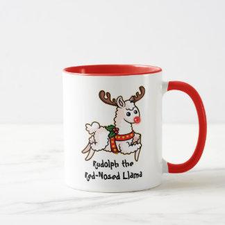 Rudolph the Red-Nosed Llama Mug