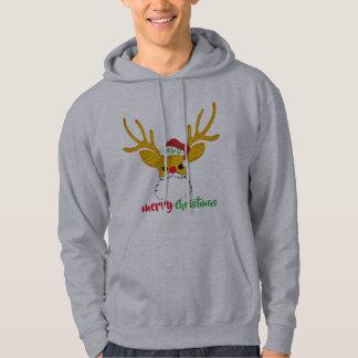 rudolph the red-nosed reindeer as santa funny hoodie
