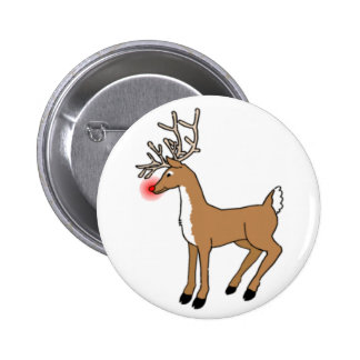 Rudolph The Red Nosed Reindeer Pinback Buttons
