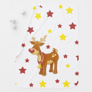 Rudolph the red nosed reindeer Christmas stars Baby Blanket