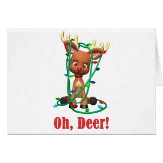 Rudolph the Red Nosed Reindeer Gets Tangled Up Cards
