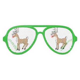 Rudolph the Red Nosed Reindeer Party Glasses Party Sunglasses