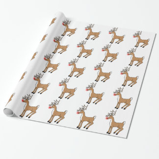 Rudolph The Red Nosed Reindeer Gift Wrap Paper