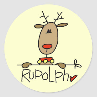 Rudolph the Reindeer T-shirts and Gifts Sticker