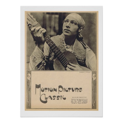 Rudolph Valentino 1922 Print