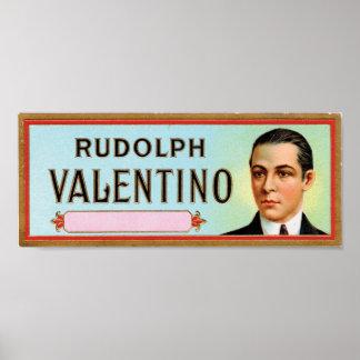 Rudolph Valentino Customizable Cigar Label Print