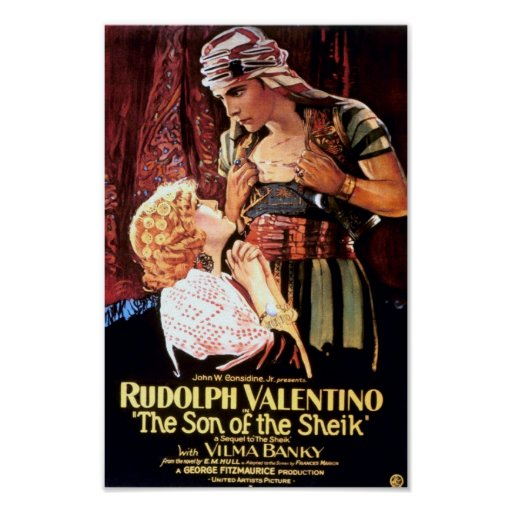 """Rudolph Valentino in """"The Son of the Sheik"""" Print"""