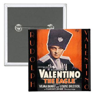 Rudolph Valentino Poster 15 Cm Square Badge