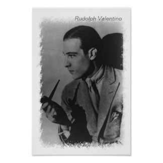 Rudolph Valentino vintage photo Poster