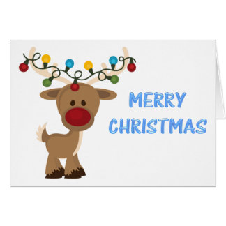 Rudolph_with_Christmas_Lights Card
