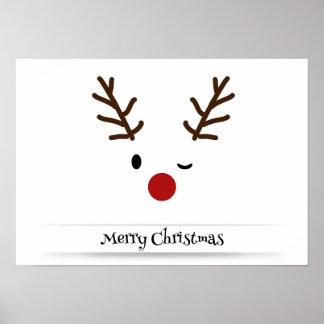 Rudolph's Merry Christmas Designer Poster