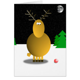 Rudolph's Nose Greeting Card