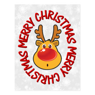 Rudy Reindeer / Humorous Postcard