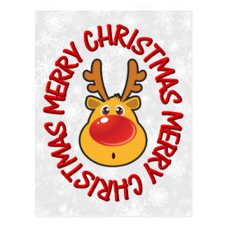 Rudy Reindeer Humorous Postcards