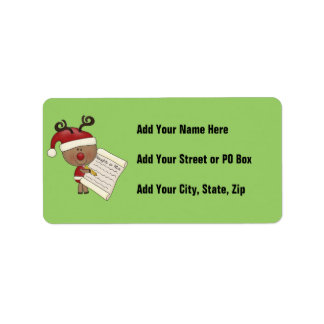 Rudy Reindeer Naughty or Nic Address Label