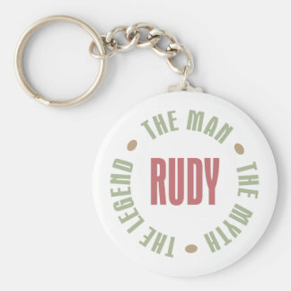 Rudy the Man the Myth the Legend Basic Round Button Key Ring