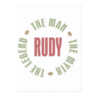 Rudy the Man the Myth the Legend Postcard