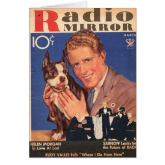 Rudy Vallee and Scottie Dog Card