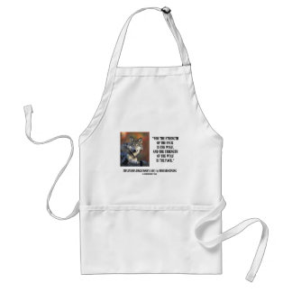 Rudyard Kipling Strength Of the Pack Wolf Quote Adult Apron