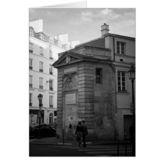 Rue Charlot, the Marais, Paris, France Card