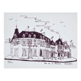 Rue De D. Nicholas | Concarneau, Finistere Postcard