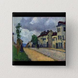 Rue de Gisors by Camille Pissarro 15 Cm Square Badge