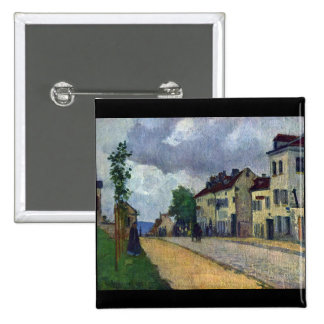 Rue de Gisors by Camille Pissarro 15 Cm Square Badge