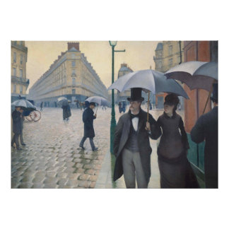 Rue de Paris, temps de pluie by Gustave Caillebott Poster