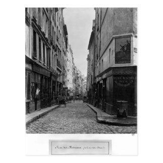 Rue des Moineaux, from Rue des Orties, Paris Postcard