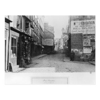 Rue Descartes, from the Rue Mouffetard, Paris Postcard
