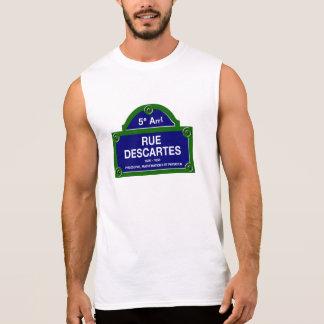 Rue Descartes, Paris Street Sign Sleeveless Shirts
